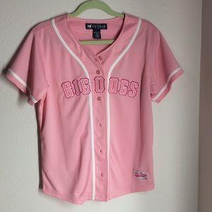 Big dogs pink baseball tee